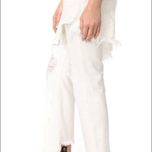 R 13 NWT white jeans with attached skirt